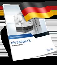 Heller H sorozat technikai adatlap Német nyelvű